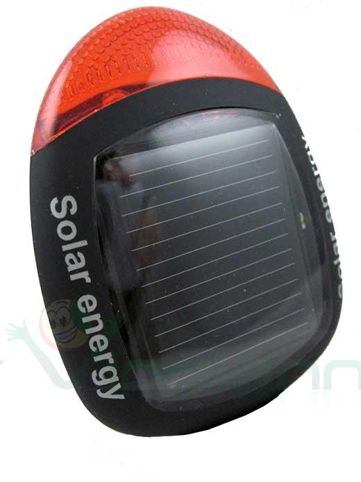 Pannello Solare Per Bicicletta : Luce faro fanalino posteriore pannello cella solare per