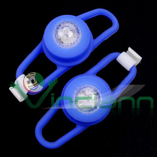 2x luce bici bicicletta led silicone blu lampeggiante for Luci tubolari a led