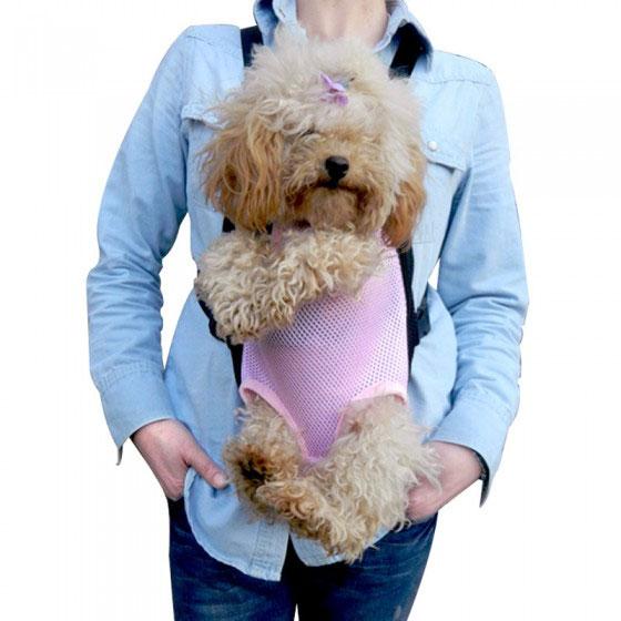 Borsa marsupio trasportino tessuto per cane piccola taglia for Marsupio per cani di piccola taglia