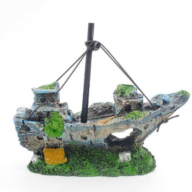 Arredo decoro decorazione acquario nave relitto galeone for Arredo acquario acqua dolce