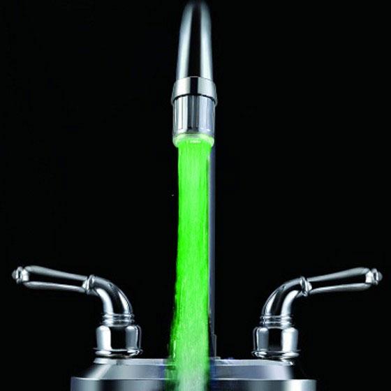 Miscelatore led colori rubinetto acqua cromoterapia bagno - Miscelatore cucina economico ...