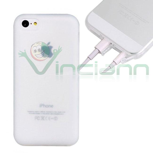 Custodia Crystal Ultra Sottile Trasparente per iPhone 5C - Bianco