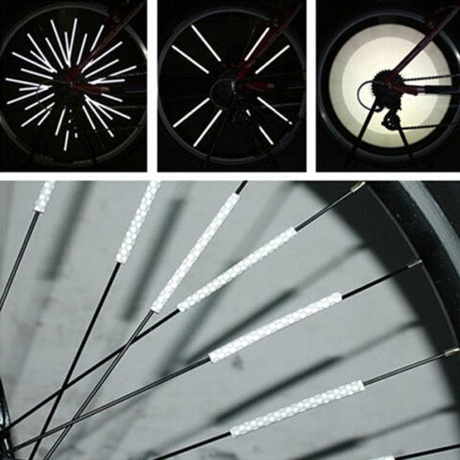 Roue de velo de la bicyclette velo 36pcs rayons reflecteur montage Clip Tub M5M8